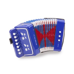 New Classic Toys - Accordeon - Blauw met Muziekboek