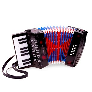 New Classic Toys - Accordeon - Zwart met Muziekboek