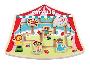 Lelin Toys - Labyrint Puzzel - Circus