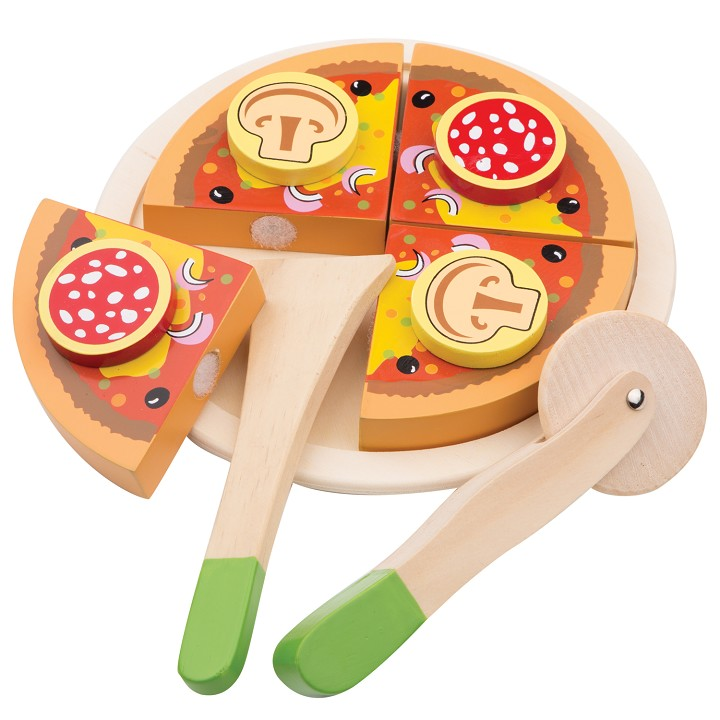 New Classic Toys - Snijset - Pizza Salami
