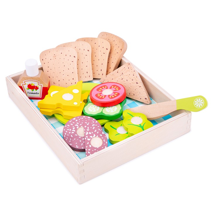 New Classic Toys - Snijset - Lunch-Picknick - Box 18 delig