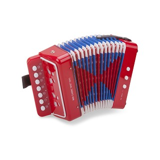 New Classic Toys - Accordeon - Rood met Muziekboek