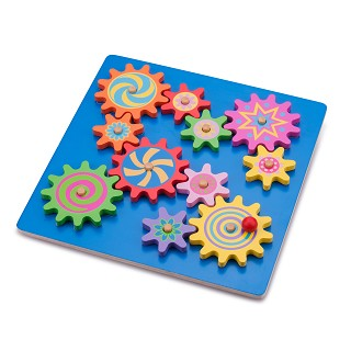 New Classic Toys - Puzzel met Roterende Tandwielen