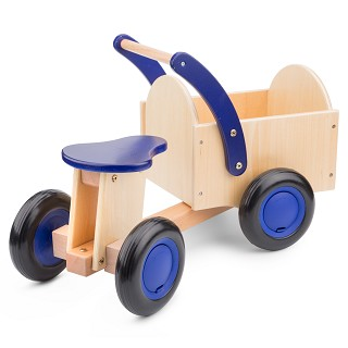 New Classic Toys - Bakfiets - Blank/Blauw