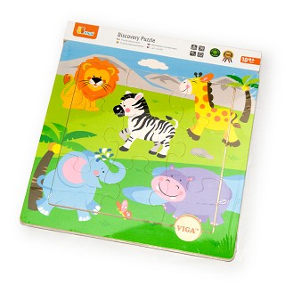 Viga Toys - Discovery Puzzel - Wilde Dieren