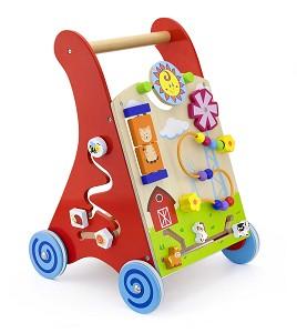 Viga Toys - Activiteiten Duw- Loopwagen - Rood