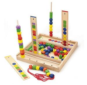 Viga Toys - Kralenspel - Kleur & Vorm Volgorde