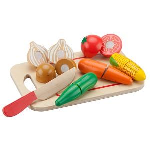 New Classic Toys - Snijset - Groenten op Snijplank - 8 stuks
