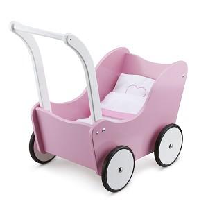 New Classic Toys - Poppenwagen met Beddengoed - Roze
